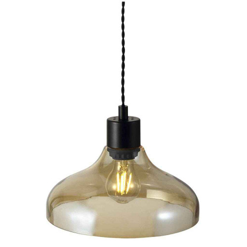Alrun Amber Glass Pendant Light