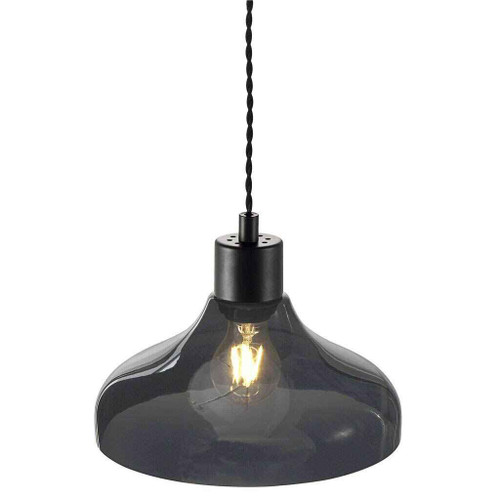 Alrun Smoked Glass Pendant Light
