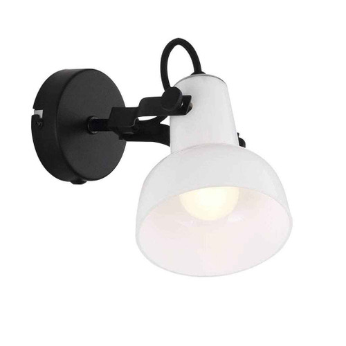 Parson Black with Opal White Glass Wall Light
