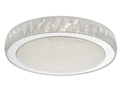 Akelia Large Acrylic & Stainless Steel LED Flush Ceiling Light