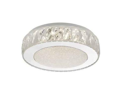 Akelia Small Acrylic & Stainless Steel LED Flush Ceiling Light