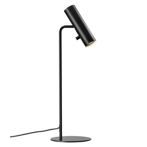 MIB 6 Black Metal with Black Cable Table Lamp