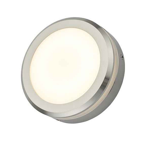 Akos Polished Aluminium IP65 LED Wall Light
