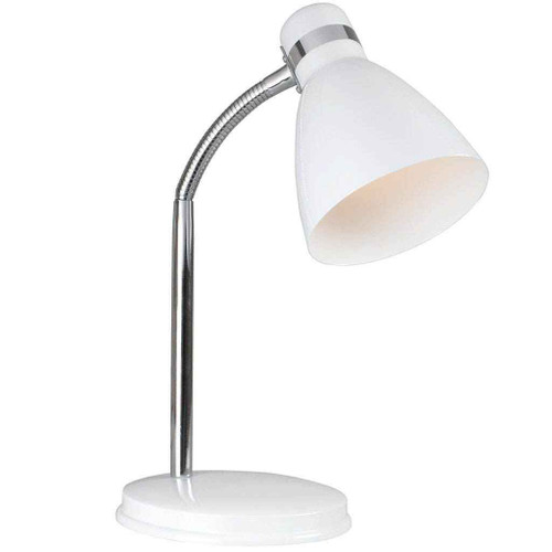Cyclone Adjustable White Table Lamp