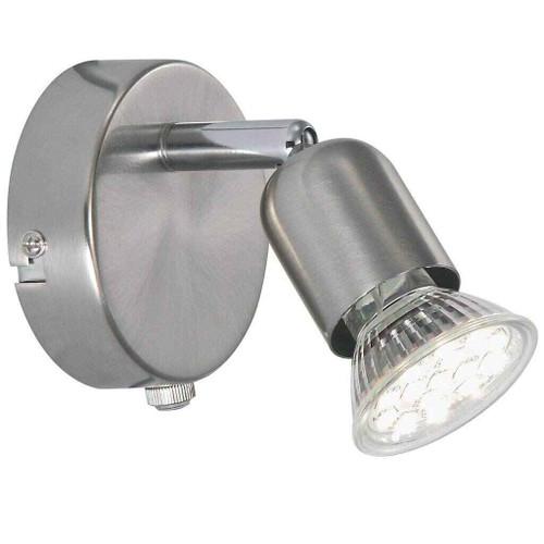 Avenue LED Adjustable Brushed Steel Wall Light