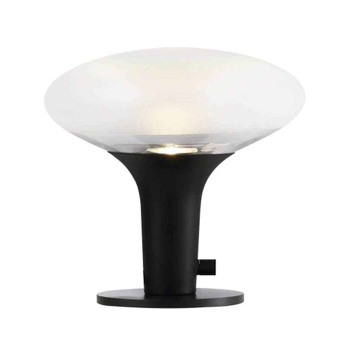 Dee 2.0 Black with Frosted Glass Table Lamp