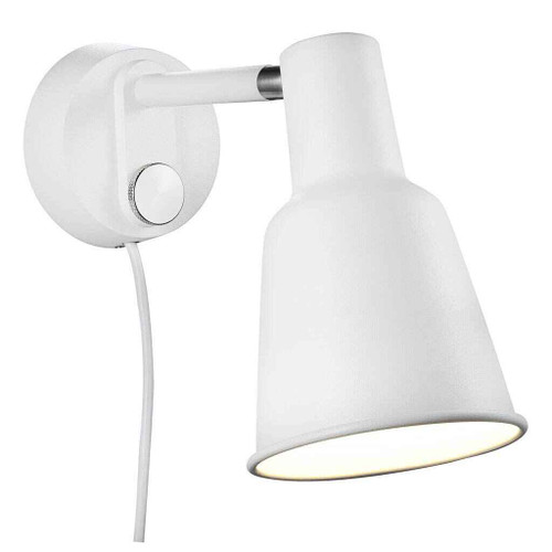 Patton White Metal Wall Light