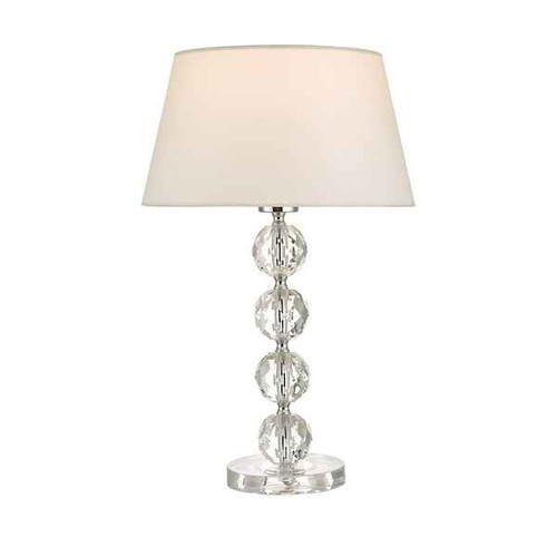 Aletta Clear Faceted Plastic Table Lamp With Shade