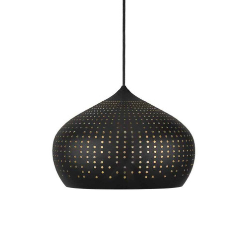 Houston 30 Black with Black metal Shade Pendant Light