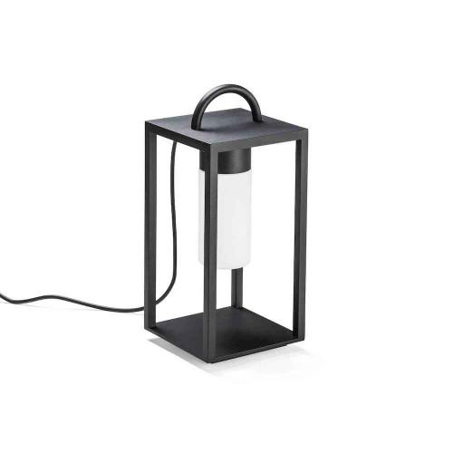 Bologna Black Steel IP44 LED Floor Lantern