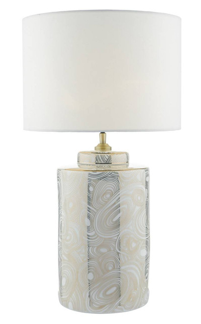 Ayesha White and Gold Ceramic Table Lamp Base Only