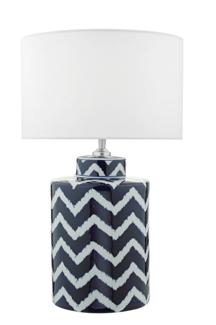 Caelan Blue and White  Ceramic Table Lamp Base Only