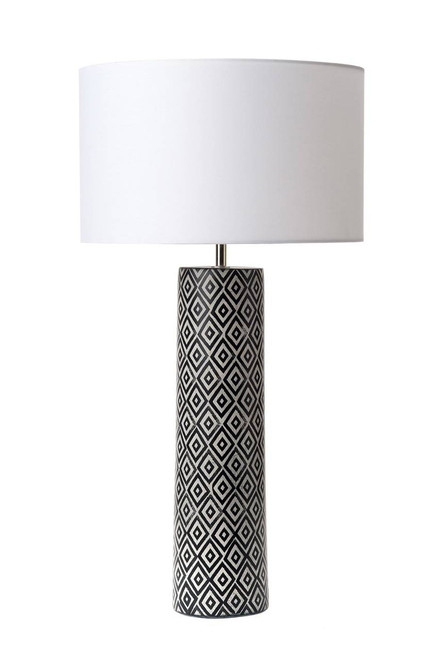 Ego Black and White Ceramic Table Lamp Base Only