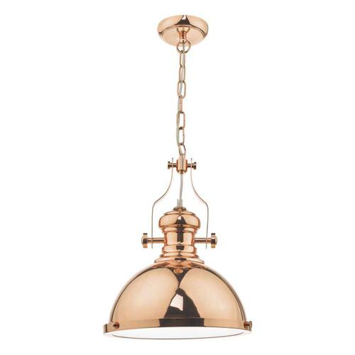 Arona Copper & Glass Industrial Metal Pendant light