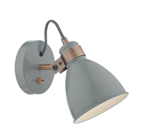 Frederick Grey and Copper Adjustable Wall Light