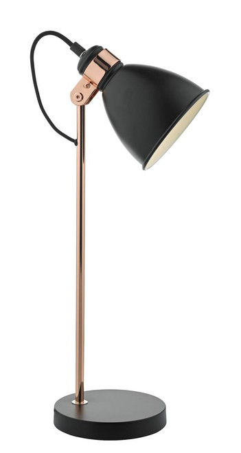 Frederick Black and Copper Adjustable Task Table Lamp