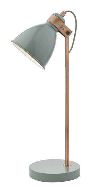 Frederick Grey and Copper Adjustable Task Table Lamp