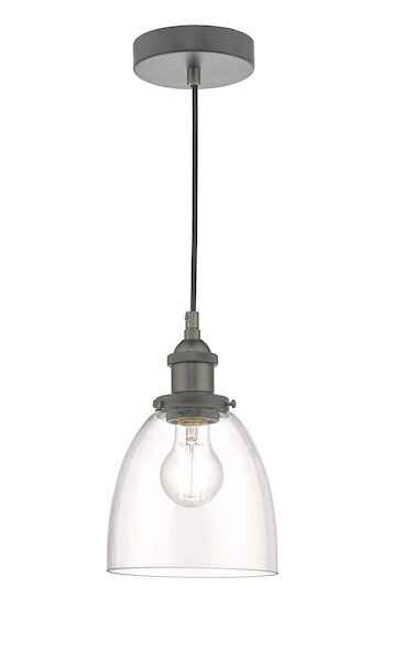 Arvin Antique Chrome and Glass Pendant Light