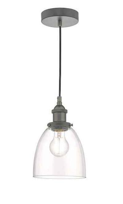 Arvin Antique Chrome and Glass Pendant Light