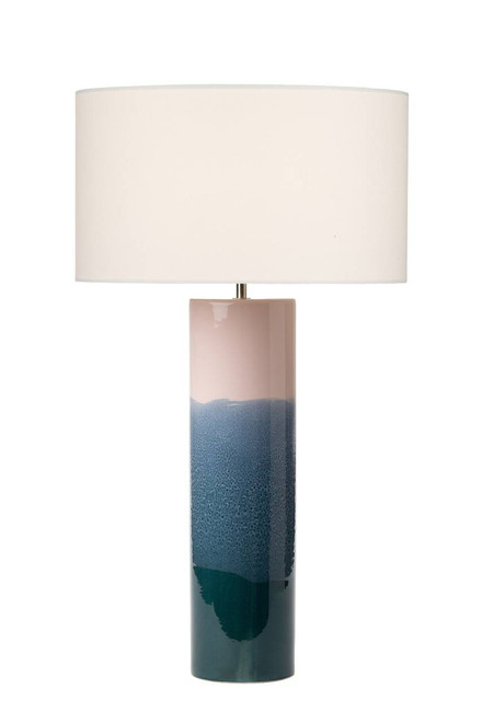 Ignatio Pink and Blue Ceramic Table Lamp Base Only