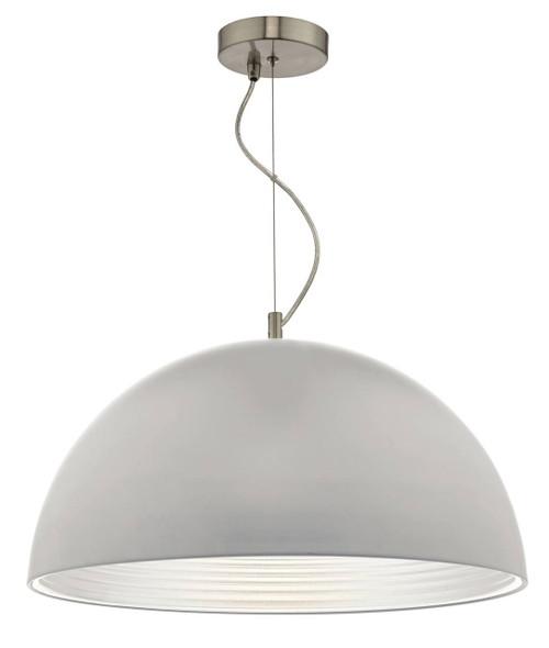 Jarama Grey and Silver Shade Pendant Light
