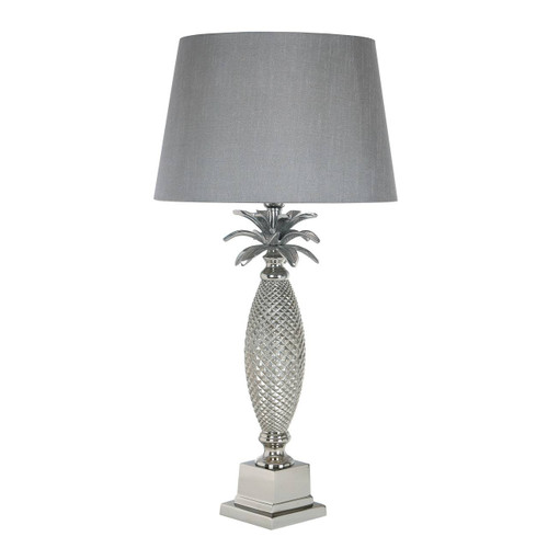 Jolson Nickel Palm Tree Table Lamp Base Only