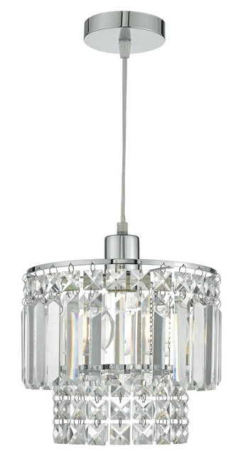 Kyla Polished Chrome and Assorted Glass Easy Fit Pendant Light