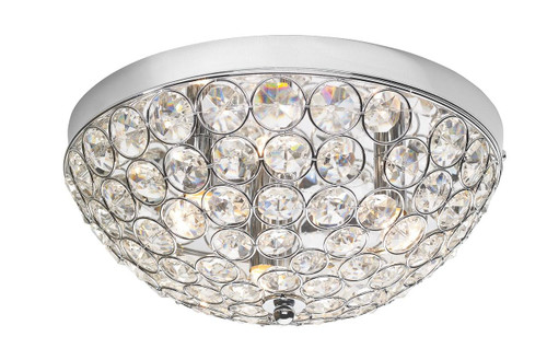 Kyrie 3 Light Polished Chrome and Crystal Flush Ceiling Light
