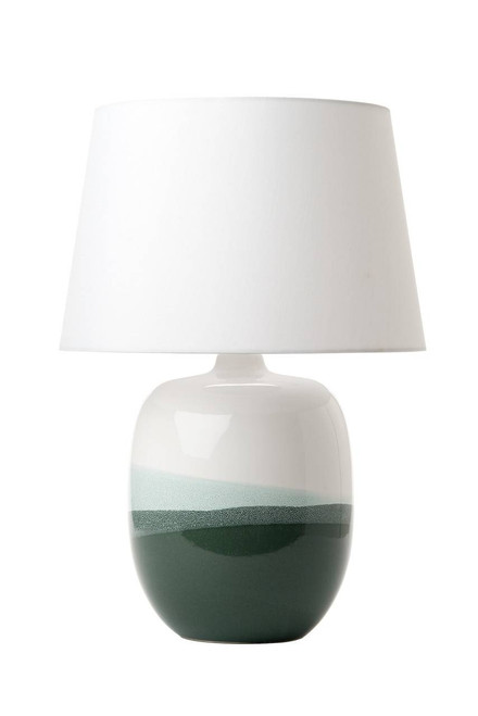Lautaro White and Green Ceramic Table Lamp Base Only