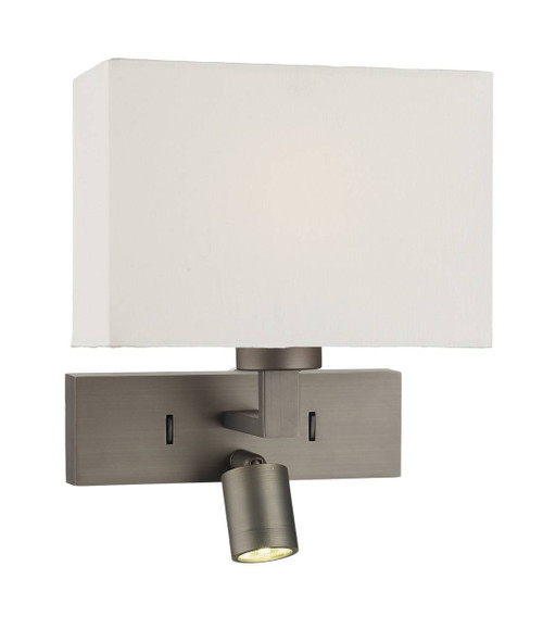 Modena Bronze with Reading Light LED Wall Light Bracket Only