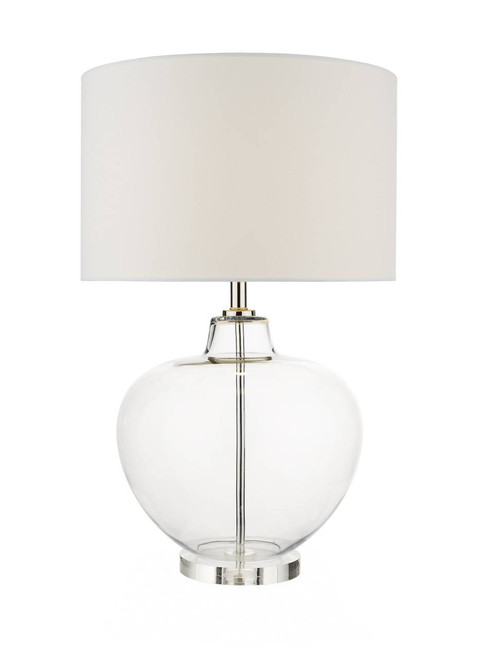 Moffat Clear Glass and Polished Chrome Table Lamp Base Only