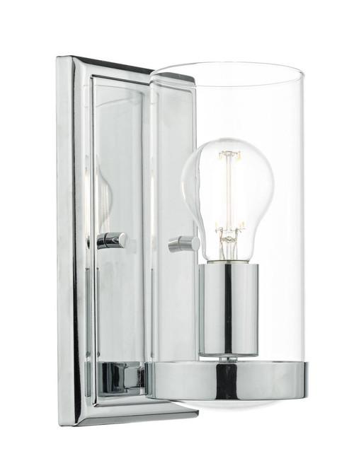 Ramiro Polished Chrome and Clear Glass Shade Wall Light