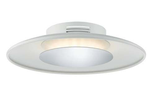 Worcester White and Polished Chrome LED Small Flush Ceiling Light