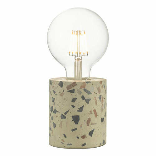 Dar Lighting Asim Polished Terrazzo Table Lamp