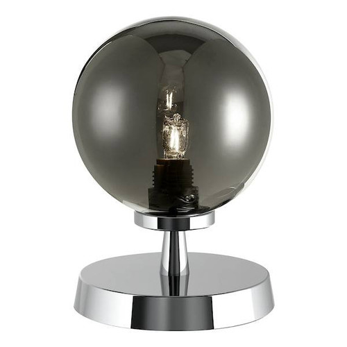 Dar Lighting Esben Polished Chrome with Smoked Glass Touch Table Lamp