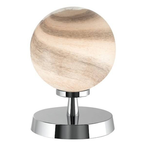 Dar Lighting Esben Polished Chrome with Planet Glass Touch Table Lamp