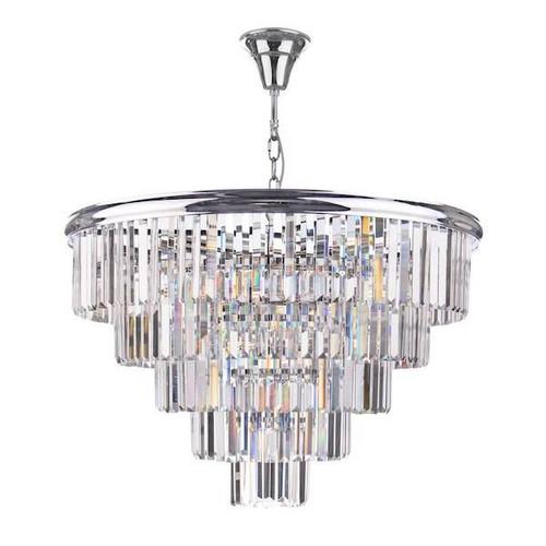 Dar Lighting Eulalia 12 Light Polished Chrome with Crystal Chandelier