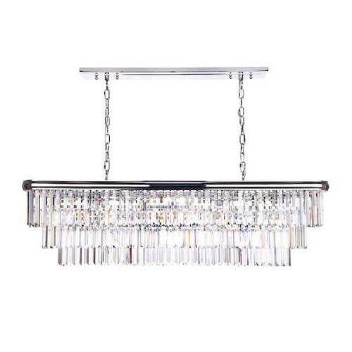Dar Lighting Eulalia 10 Light Polished Chrome with Crystal Chandelier