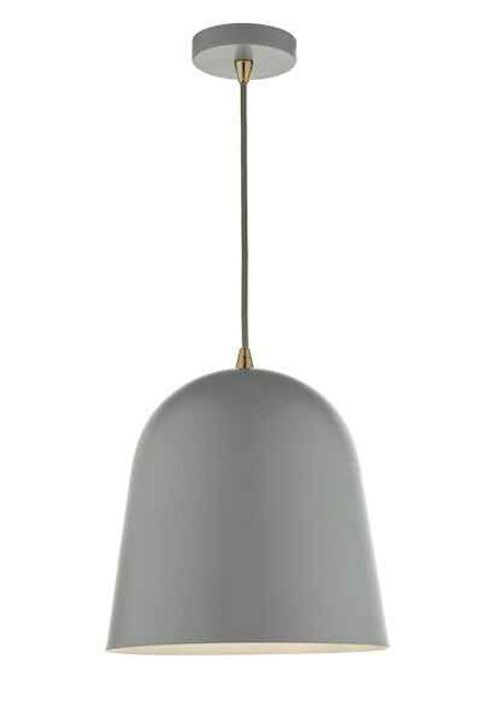 Baja Matt Grey Small Metal Pendant Light