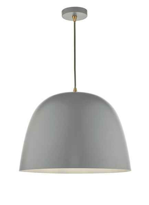 Baja Matt Grey Large Metal Pendant Light