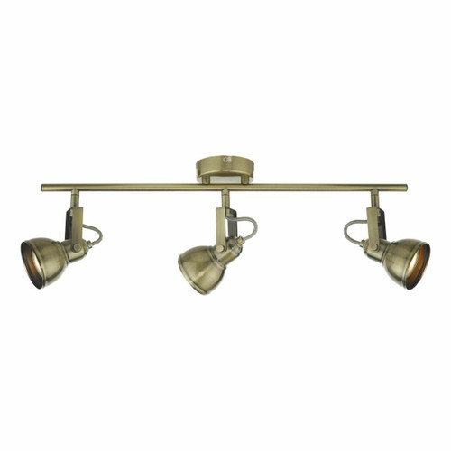 Dar Lighting Fothergill 3 Light Antique Brass Spotlight
