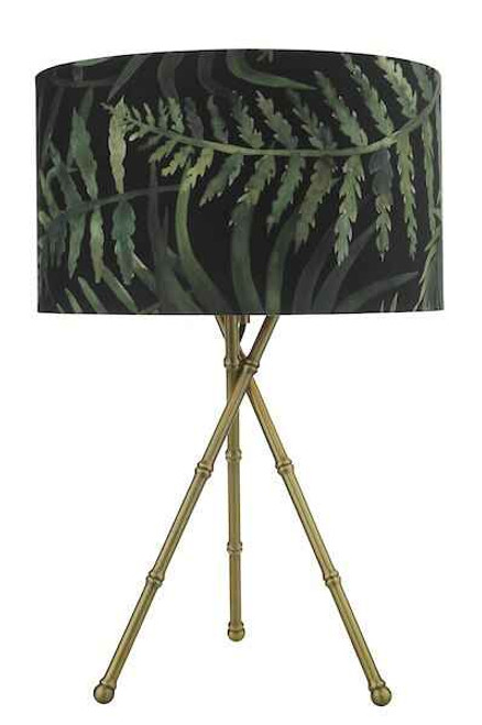 Bamboo Antique Brass Table Lamp Base Only
