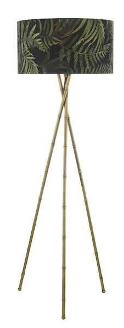 Bamboo Antique Brass Floor Lamp Base Only