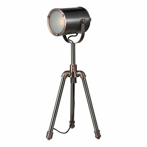Dar Lighting Jake Antique Silver and Copper Task Table Lamp