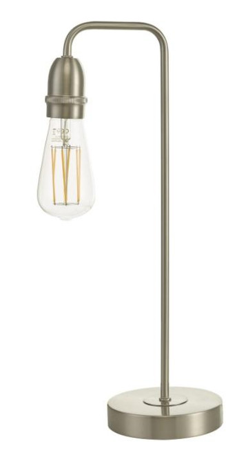Dar Lighting Kiefer Satin Chrome Table Lamp