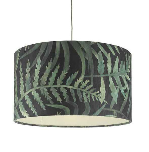 Bamboo Green Leaf Print Large Easy Fit Shade Only