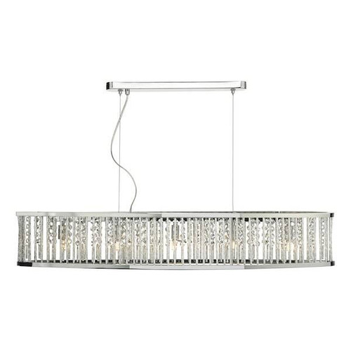 Dar Lighting Nantes 5 Light Polished Chrome Bar Pendant Light