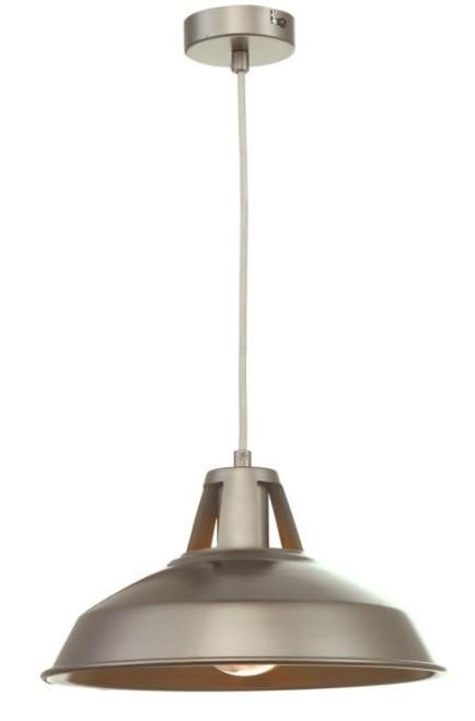 Dar Lighting Owain Pewter Pendant Light