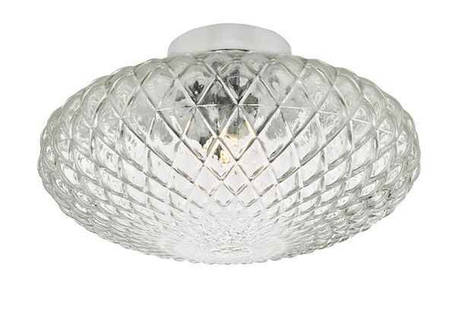 Bibiana 1 Light Polished Chrome with Clear Glass Large Wall/Ceiling Light