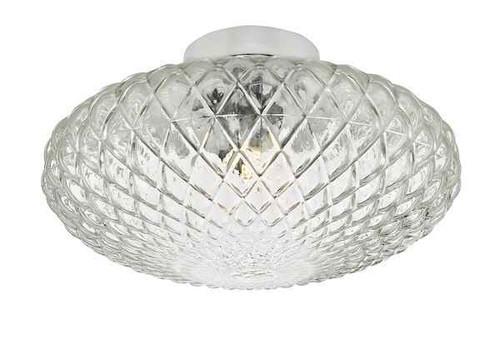 Bibiana 1 Light Polished Chrome with Clear Glass Large Wall/Ceiling Light